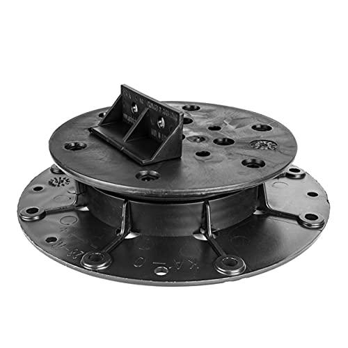 Pied de rangement réglable pour terrasse Pied de nivellement Base Base pour bois Base en aluminium WPC 90 pièces (1 carton) Hauteur réglable 28-36 mm