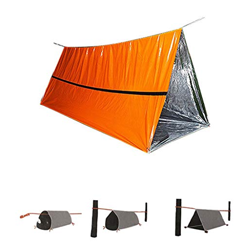 Fine 2 Person Emergency Tent – Use As Survival Tent, Emergency Shelter, Tube Tent, Survival Tarp Ultralight and Extra Large,Waterproof and Windproof Tube Tent (Orange)