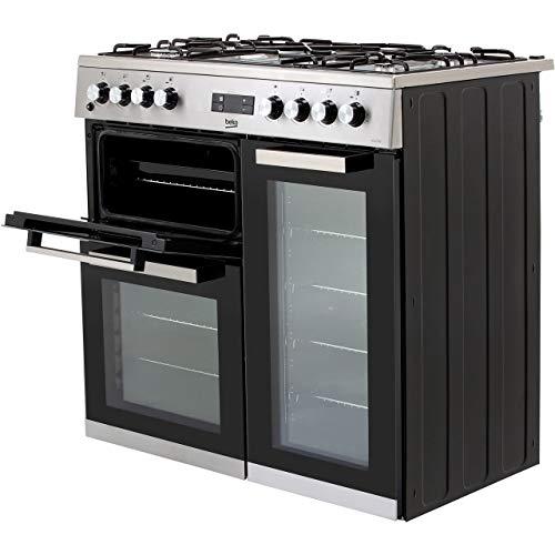 Beko 90cm Dual Fuel Range Cooker - Stainless Steel