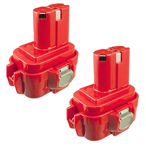 CELLONIC 2X Batterie 9.6V, 3Ah, NiMH Compatible avec Makita BMR100, 6222d, 6261D, 6207D, 6204D, 6226D, 6260D Accu de Rechange 9120,9120, 9134, 9135,9133, 192638-6, 9102 Outil portatif