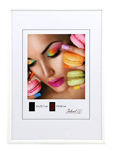 Ideal Trend Kunststoff Bilderrahmen 10x15 cm bis 50x70 cm Bilder Foto Rahmen: Farbe: Weiß | Format: 50x70