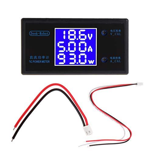 MIKI-Z DC 0-50 V 5A 250 W Voltmeter Amperemeter Wattmeter LCD-Panel Spannungsverstärker Leistungsmesser
