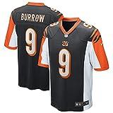 Joe Burrow Cincinnati Bengals NFL Nike Boys Youth 8-20 Black Home On-Field Game Day Jersey (Youth Large 14-16)