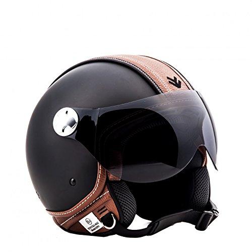 ARMOR Helmets AV-84 Casco Moto Demi Jet, Multicolor/Vintage Deluxe, S (55-56cm)