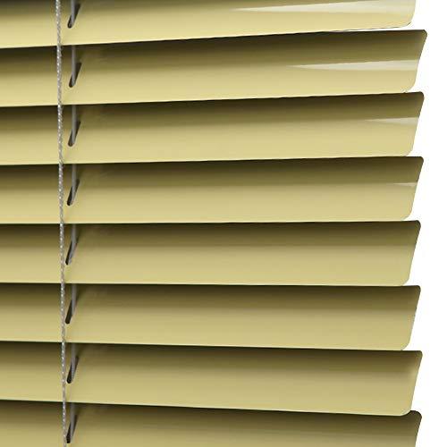 YJFENG Veneziana in Alluminio Persiane Tapparelle,Olio-Prova Antivegetativa Senza Formaldeide Facile da Pulire Salute Ristorante Cucina,Fatto su Misura (Color : Yellow, Size : 90x160cm)