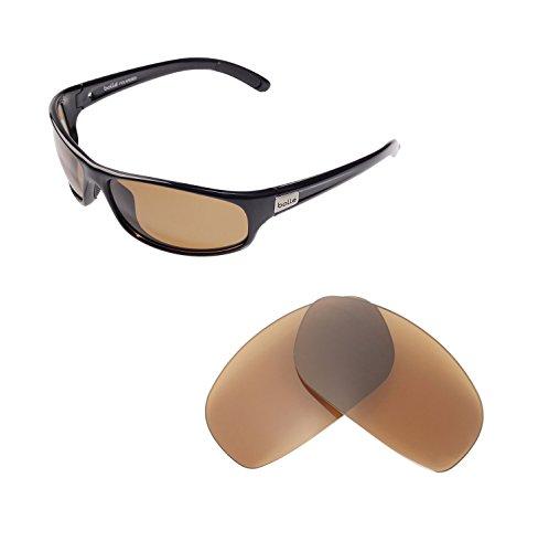 Walleva Ersatzgläser für Bolle Anaconda Sonnenbrille - Mehrfache Optionen verfügbar (Braun - polarisiert)