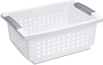 Sterilite 16628006 Medium Stacking Basket - White