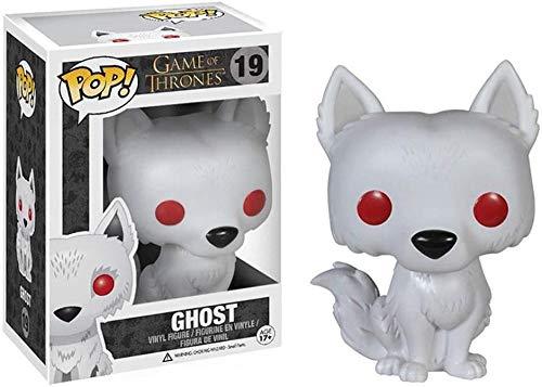 A-Generic Pop! Películas: Juego de Tronos - Jon Snow Ghost Tyrion Lannister BRAN Stark Lord Varys Yara Grey Joy Children of The Forest Gendry Figura de Vinilo Multicolor-Fantasma