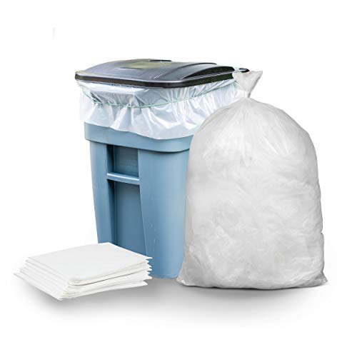 Save %24 Now! Plasticplace 65 Gallon Trash Bags │ 1.5 Mil │ Clear Heavy Duty Garbage Can Liners ...