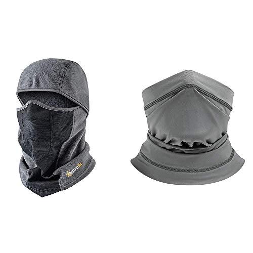 AstroAI Sun and UV Protection Neck Gaiter and Windproof Ski Mask Bundle