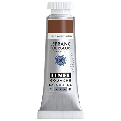 Lefranc Bourgeois Linel Gouache Extra-Fine Tube 14ml Terre D'Ombre Brulue Série 2