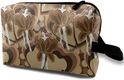 Dancers in Sepia_34 Toiletry Bag Cosmetic Bag Portable Makeup Pouch Travel Hanging Organizer Bag for...