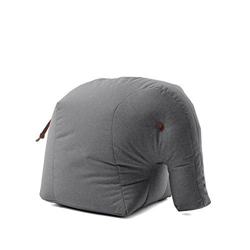 Sitting Bull - Elmar - Sitzsack - Kindersitzsack - Elefant - grau - 75 x 55 x 55 cm