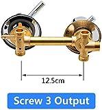 Set de ducha-2/3/4/5 vías Salida de agua Tornillo Rosca Distancia central 10cm 12.5cm Válvula mezcladora Latón Baño Ducha Mezclador Grifo Grifo Cabina-intubar 3out 10cm-C Sello