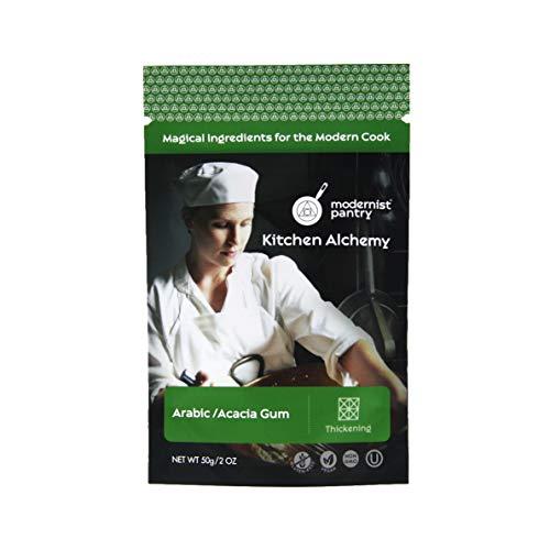Pure Gum Arabic Powder [Acacia Gum] ⊘ Non-GMO ❤ Gluten-Free ☮ Vegan ✡ OU Kosher Certified - 50g/2oz