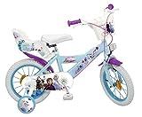 Toimsa 14' 14 Zoll Disney Frozen Mädchen Fahrrad Mädchenfahrrad Kinderfahrrad Eiskönigin Bike Rad...