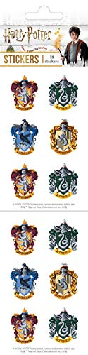 Playhouse Harry Potter Houses of Hogwarts Crests Pack of Three Perforated Sticker Half-Sheets