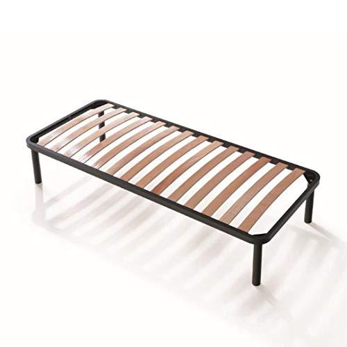 Evergreenweb ✅ Bett Lattenrost Hoch 35 cm Orthopädische Dauben aus Buche Holz Verstärkt, 4 Füße Abnehmbar, Rahmen aus Stahl, Bettgestell für alle Betten und Matratzen (90 x 190 cm, Apple)