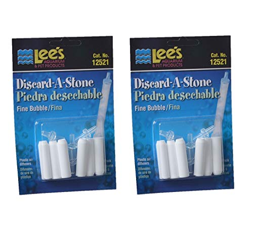 Lee's Pet Products ALE12521 6-Pack Discard a Stone Disposable Air Diffuser for Aquarium Pump, Fine (2 Units (6-Pack))