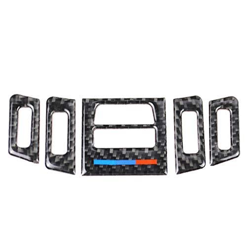 ZBHWYD Aire Acondicionado Ventilación de 5 Piezas M Serie Accesorios de Estilo de Fibra de Carbono para BMW Modificación de Interiores de la Serie 3 E90 E92 320i 318i 325i (2005-2012)