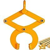 BestEquip 1T Pallet Puller Steel Single Scissor Yellow Pallet Puller Clamp 2205 LBS Capacity Pallet Grabber 4.3 Inch Jaw Opening x 0.5 Inch Jaw Height