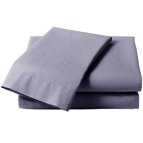 Just Contempo Sábana Bajera Ajustable, de algodón, la Inconmovible, Gris, Cama Doble