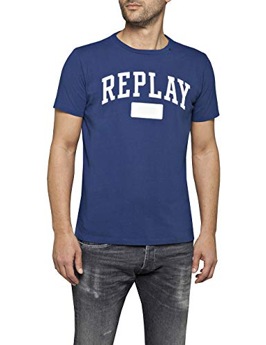Replay Herren M3874 .000.22662 T-Shirt, Blau (Deep Royal 788), Large (Herstellergröße: L)