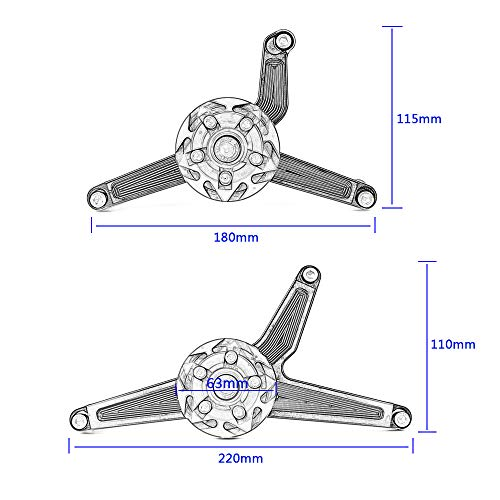 Bisagras de soldar a 2/alas piezas perno Sfilabile 140/mm 14/cm puerta garaje