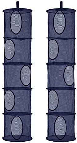 2Pcs Foldable Hanging Storage Mesh Space Saver Bags Organizer Foldable Suspension Storage 5 product image