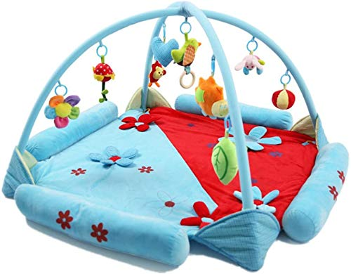 Baby kruipmat, baby muziek spelen deken, puzzel oefening pad activiteit Gym (roze) Blauw