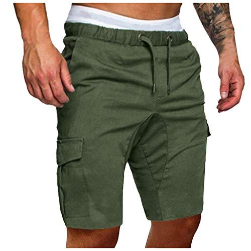 FRAUIT Pantaloni Ragazzo Cargo Slim Fit Pantaloncini Uomo Shorts Estivi Uomini Pantalone Estivo Corto Bermuda Cargo Tasconi Pantaloni Tuta Spiaggia Piscina Mare