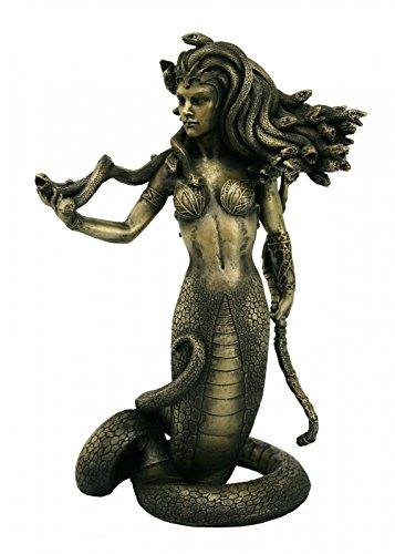 Unbekannt Statue der Medusa bronziert 20 cm Gorgone Perseus Griechenland