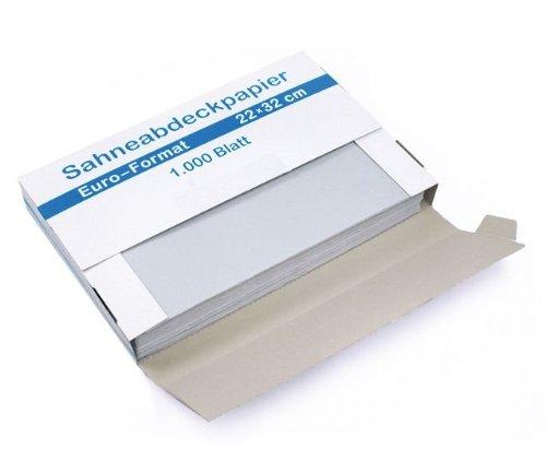 Sahneabdeckpapier Wachspapier Euro-Format 22x32 cm, 10 Spender á 1.000 Bl.
