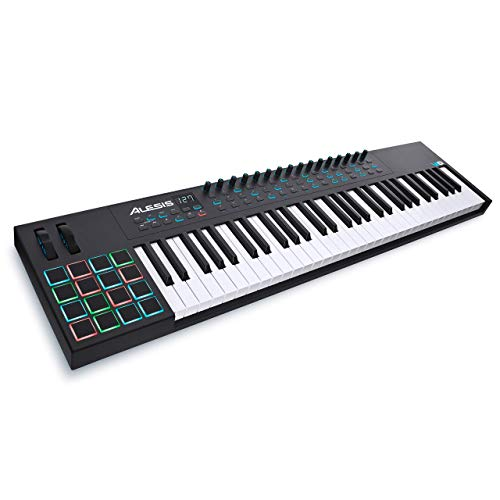 Alesis VI61 | 61-Key USB MIDI Keyboard Controller with 16 Pads, 16 Assignable Knobs, 48 Buttons and 5-Pin MIDI Out Plus Production Software Included (Renewed)