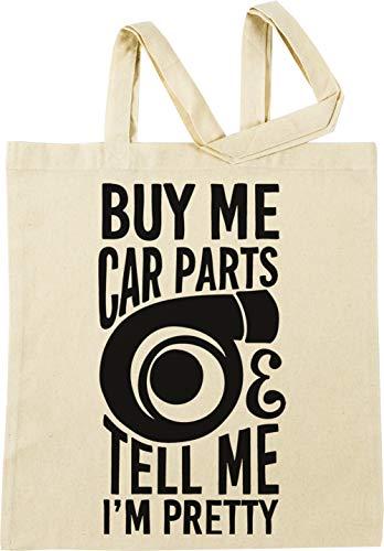 Vendax Buy me car Parts and Tell me im Pretty Beige Einkaufstasche