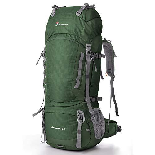 MOUNTAINTOP 80L Internal Frame Hiking Backpack DarkGreen