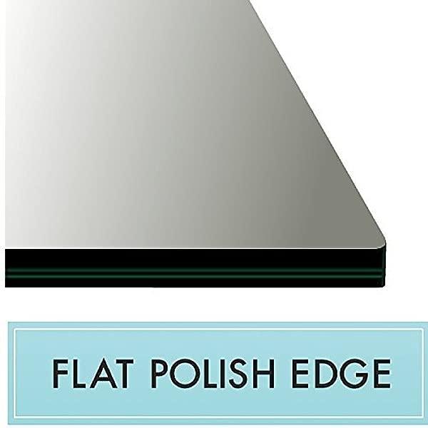 42X72 矩形钢化玻璃桌面 1 2 厚平面抛光边缘