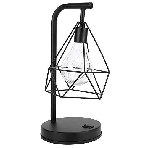 Lámpara de escritorio de hierro, lámpara de mesa de hierro de estudio simple y de moda para comedor, oficina, dormitorio, estudio, bar