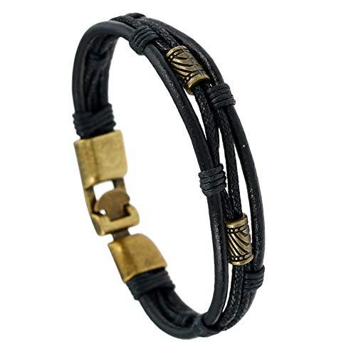 CAOLATOR Armband Damen Lederarmband Manner Armbänder Retro Freundschaftsbänder Kreativ Armkette Exotischer Stil Handgewebt Armreif (#5)