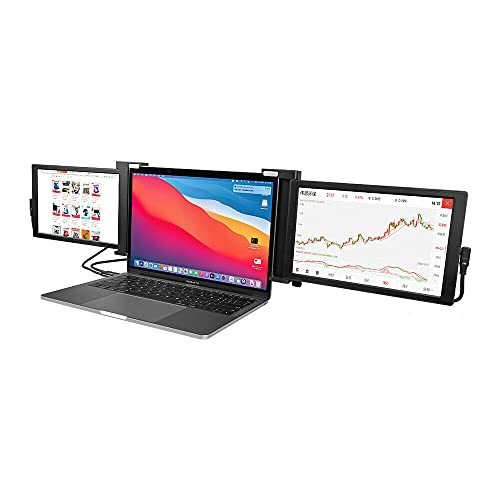 Portable Triple Laptop Monitor Display 10.1' Full HD