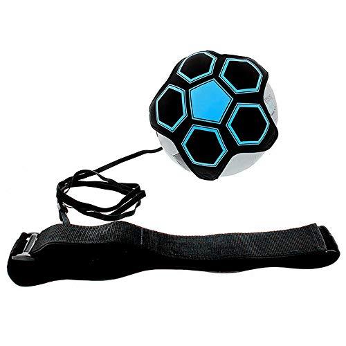 Futbol Trainer,Balon con Cuerda Practica de Habilidad de Futbol Solo Universal Se Adapta a # 3# 4# 5 Balones de Futbol para Ninos Adultos