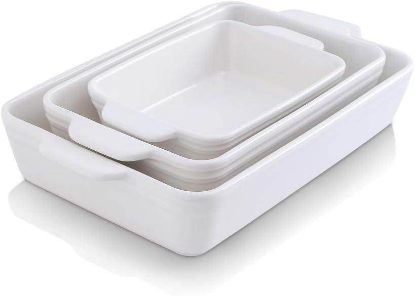 KOOV Bakeware Set Ceramic Rectangular 至上 日時指定 Baking Dish Casserol