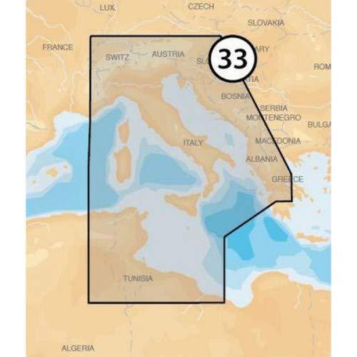 Navionics Platinum+ Seekarte (Large/XL3) Region Europa, Medium SD/microSD-Karte, Abdeckungsbereich 33P+ - Zent. Mittelmeer