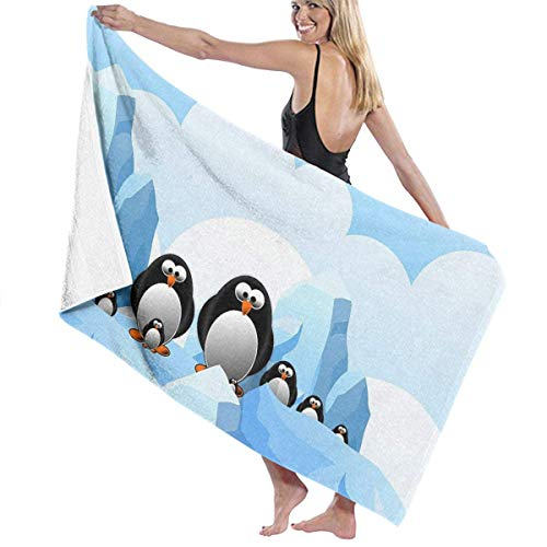 chillChur-DD Bath Towel Pinguin Antarktis Eistuch Wickelbad Womens Spa Dusche und...