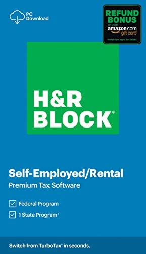 H R Block Tax Software Premium 2020 with Refund Bonus Offer Amazon Exclusive PC Download product image