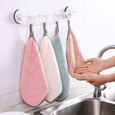 \N Fanies-Shop, set di 4 panni per la pulizia, assorbenti, strofinacci da cucina, panni in microfibra, panni per la pulizia della casa, senza lanugine.