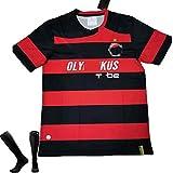 CWWAP Uniforme de fútbol Local Retro 2008-2009 para Adultos Unisex, Camiseta de fútbol Personalizada Vintage + calcetín, Equipo de Uniformes de Entrenamiento-S