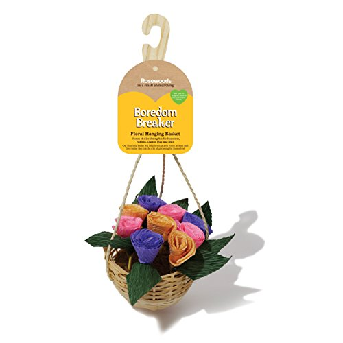Rosewood Boredom Breaker Small Animal Activity Toy Floral Hanging Basket