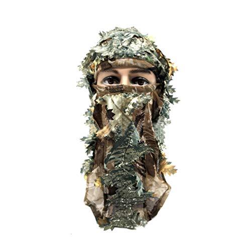 Abaodam Camo 3D Leaf Camouflage Gesicht atmungsaktiv Jagd Kopfbedeckung Truthahn Camo Jäger Jagd Zubehör