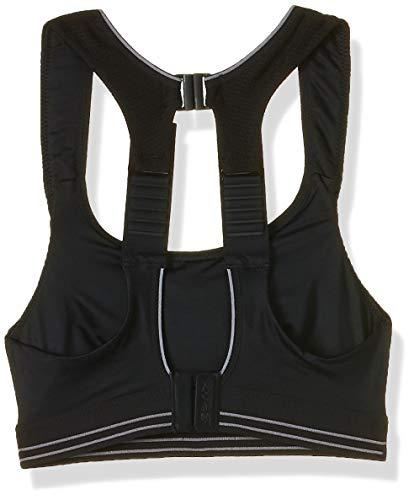 Shock Absorber Women's ULTIMATE RUN BRA Sports Bra, Black/Silver, 34D